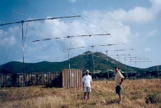 Figure 2. Photograph of the  radar site at the National Guard Base on St. Croix. Photo credits Scotty Nicholson